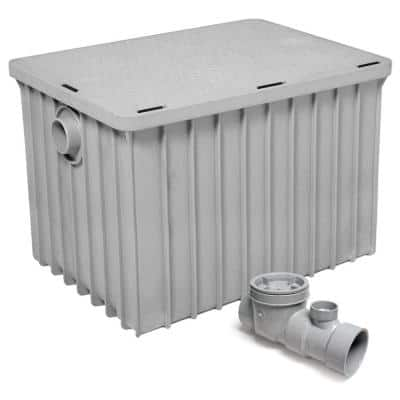 Endura Grease Interceptor 50 GPM 31 in. L Thermoplastic Grease Trap with Flow Control Device