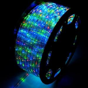 Outdoor 150 ft. 110-Volt Plug-In Multi-Color Color Changing Light LED Rope Light