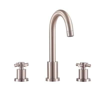 Messina 8 in. Widespread 2-Handle Bathroom Faucet in Brushed Nickel