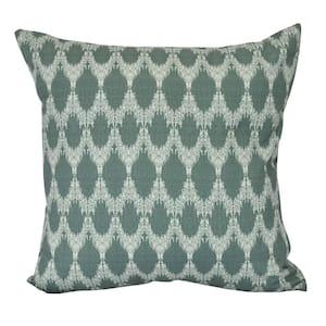 Peace Green Geometric 16 in. x 16 in. Throw Pillow