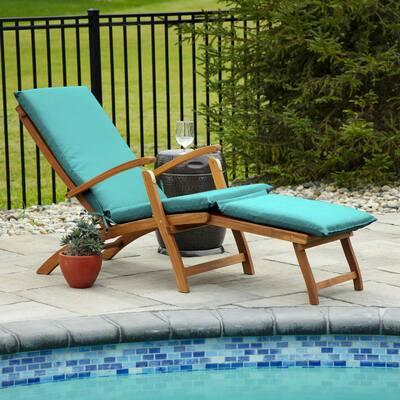 19 x 74 Sunbrella Canvas Aruba Outdoor Chaise Lounge Cushion