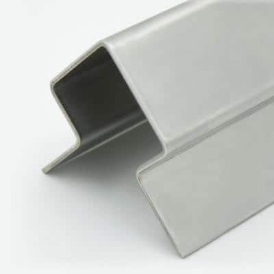 4 ft. Standard Stair Nosing in Stainless Steel for Tile (1/2 in. Profile)