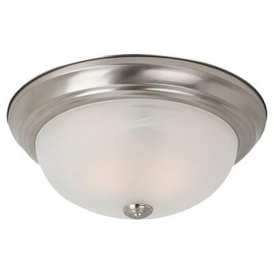 Windgate 1-Light Brushed Nickel Flushmount