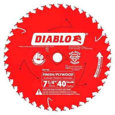 7-1/4 in. x 40-Tooth Finish Circular Saw Blade