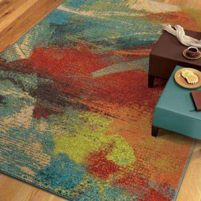 Opulent Abstract Multi 5 ft. x 8 ft. Indoor Area Rug