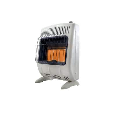 20000 BTU Vent-Free Radiant Natural Gas Heater with Thermostat and Blower