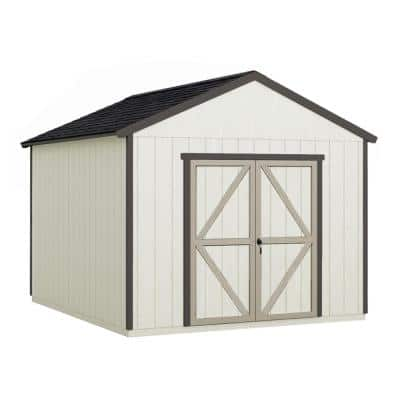 Installed Astoria 12 ft. x 12 ft. Wooden Shed with Onyx Black Shingles