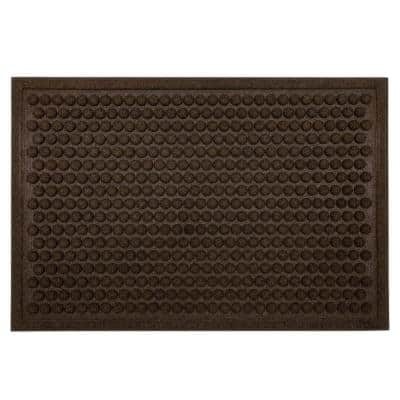 Dots Chocolate 24 in. x 36 in. Impressions Mat