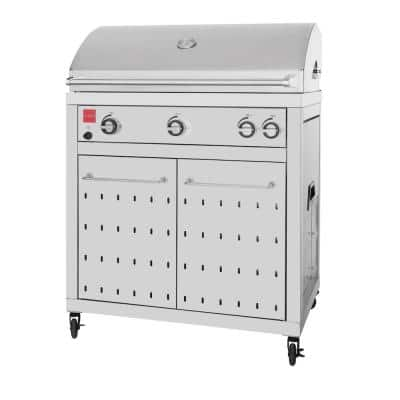 Premium 4-Burner Propane Gas Grill in Stainless Steel