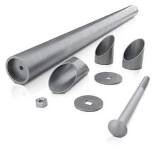 Adjustable 3 ft. Galvanized Steel Post Extender