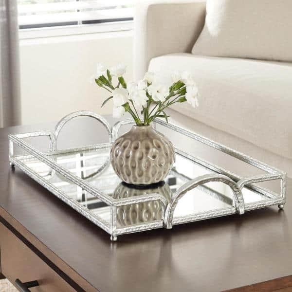 Home Decorators Collection Silver, Silver Mirror Tray Rectangle