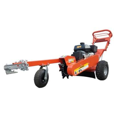 14 in. 14 HP Gas Powered Commercial Stump Grinder with Electric Start & Towbar