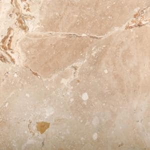 Trav Crosscut Valencia Filled and Honed 17.99 in. x 17.99 in. Travertine Floor and Wall Tile (2.25 sq. ft.)