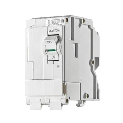 Branch Circuit Breaker, Standard 2-Pole 80 Amp, 120-Volt/240-Volt, Hydraulic Magnetic