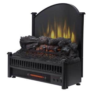 23 in. Electric Fireplace Logs with Removable Fireback and Heater