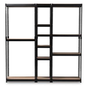 Gavin Black Storage Rack with 10-Metal Shelves