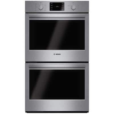 500 Series 30 in. Double Electric Wall Oven with European Convection and Self Cleaning in Stainless Steel