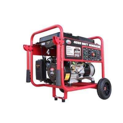 3300-Watt Gasoline Powered Portable Generator CARB Approved with Wheel Kit