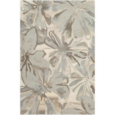 Amaranthus Grey 4 ft. x 6 ft. Indoor Area Rug
