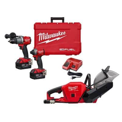 M18 FUEL 18-Volt Lithium-Ion Brushless Cordless Hammer Drill and Impact Driver Combo Kit (2-Tool) W/ Cut Off Saw