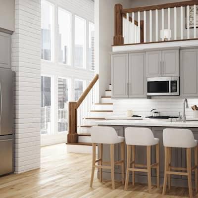 Designer Series Elgin Assembled 24x84x23.75 in. Pantry Kitchen Cabinet in Heron Gray