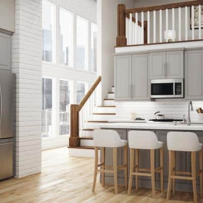 Designer Series Elgin Assembled 33x34.5x20.25 in. Lazy Susan Corner Base Kitchen Cabinet in Heron Gray