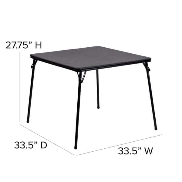 33 5 In Black Plastic Table Top Material Folding Card Tables Cga Yb 14980 Bl Hd The Home Depot