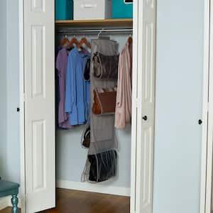 60 in. H x 10 in. W Medium Grey Linen Closer Drawer Organizer Hanging with 8 Pockets