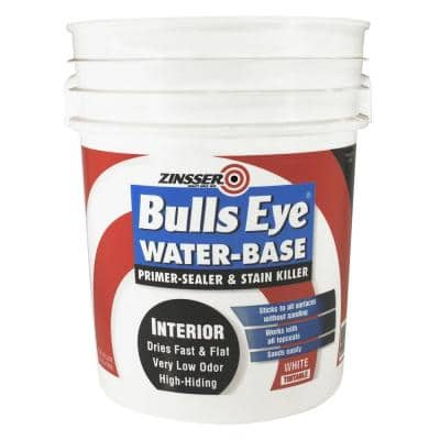 Bulls Eye 5 gal. White Water-Base Interior Primer and Sealer