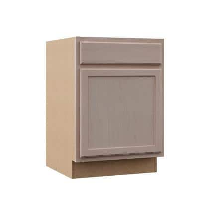 Hampton Unfinished Beech Raised Panel Stock Assembled Base Kitchen Cabinet (24 in. x 34.5 in. x 24 in.)