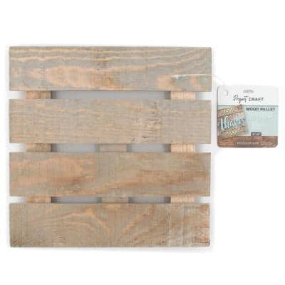 Project Craft Unfinished Blank Wood Pallet Sign for Craft Painting, 8 in. x 8 in.