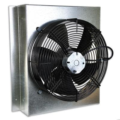 Gable Mounted Attic Fan with Thermostat Fully Assembled Plug and Play Operation 1580 CFM