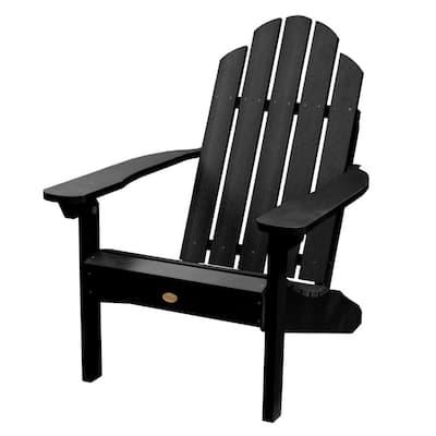 Classic Wesport Black Recycled Plastic Adirondack Chair