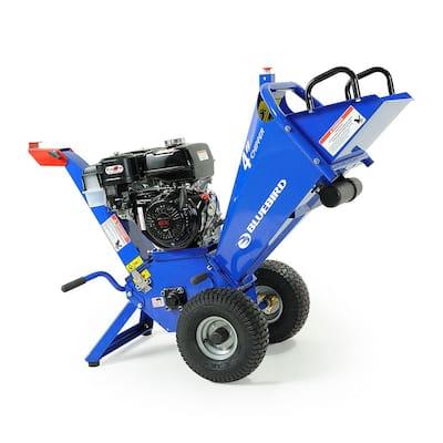 Bluebird 4 in. 13 HP Gas Powered Commercial Chipper Shredder with Honda GX390 Engine