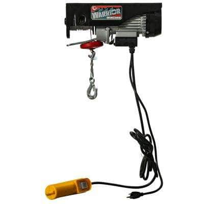 Warrior 550 lbs./1100 lbs. Weight Capacity Single/Double Line 60 ft./30 ft. Lift Height Electric Hoist with Remote