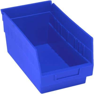 Store-More 8-Qt. Storage Tote with 6 in. Shelf in Blue (30-Pack)