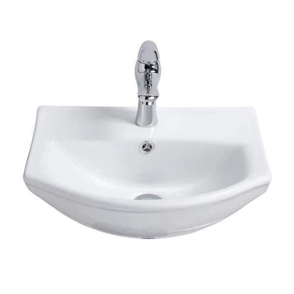 Renovators Supply Manufacturing Tahoe 17 3 4 In Wall Mounted Bathroom Sink In White With Overflow 21855 The Home Depot