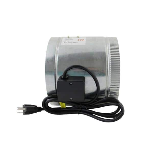 Spruce Homeaire Idf 8 210 Cfm 8 In Inlet And Outlet Inline Duct Booster Fan In Galvanized Steel Housing 28533 The Home Depot