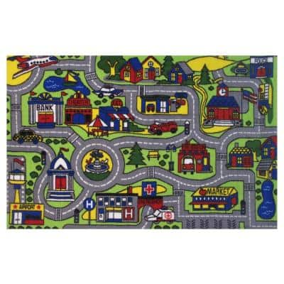 Fun Time Driving Time Multi 3 ft. x 5 ft. Area Rug