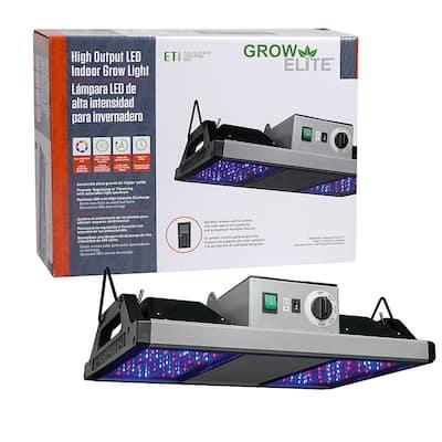 GrowElite Brushed Nickel Integrated LED 250-Watt High Output Indoor Grow Light Daylight 500-Watt HID Replacement