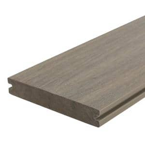 UltraShield Naturale Magellan 1 in. x 6 in. x 8 ft. Roman Antique Solid with Groove Composite Decking Board
