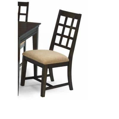 Casual Traditions Walnut Upholstered Side Chairs (2/ctn)