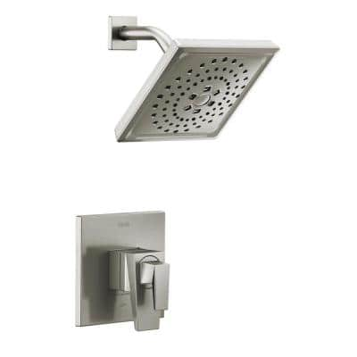 Trillian 1-Handle Wall-Mount Shower Trim Kit in Stainless (Valve not Included)