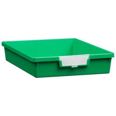 2 Gal. - Tote Tray - Slim Line 3 in. Storage Tray in Primary Green