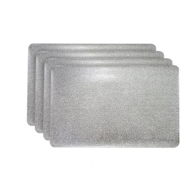 Galaxy Silver Rectangular Shaped Placemat (Set of 4)