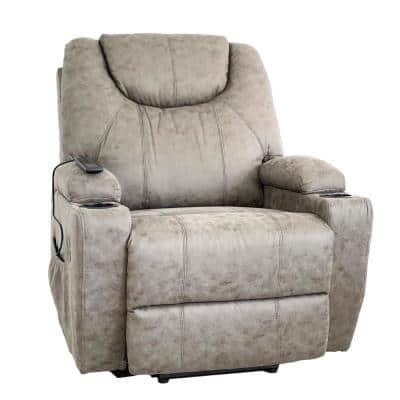Ultra Gray Palomino Massage and Lift Chair with Heat and USB Ports