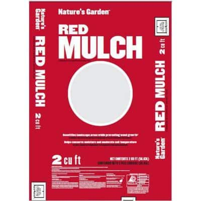 Commodity 2 cu. ft. Pine Mulch in Red