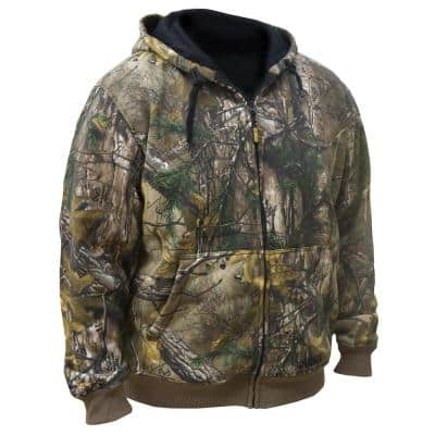 Men's XXXLarge 20-Volt MAX XR Lithium-Ion Camoflauge hoodie kit with 2.0 Ah Battery and Charger