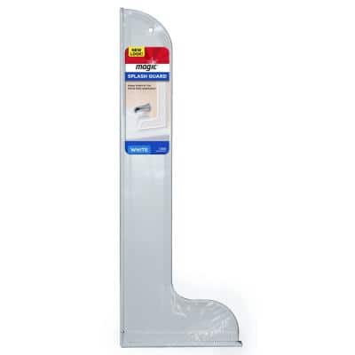 Large Adhesive Plastic Wall Splash Guard for Showers and Tubs 10.5 in. x 28.55 in.