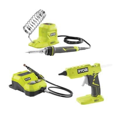 ONE+ 18V 40-Watt Soldering Iron, Rotary Tool, and Glue Gun (Tools Only)